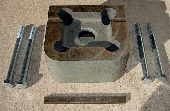 Barker Milling Machine Riser Block Install